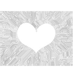 Stylized image in the shape of a heart surrounded vector