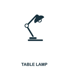table lamp icon line style icon design ui vector image