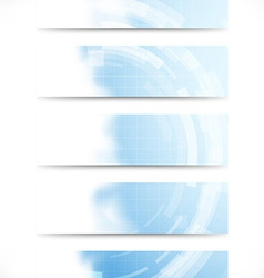 Technology gear abstract cards collection vector image