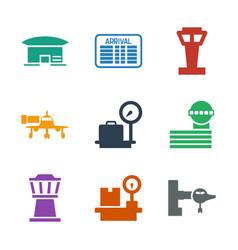 Terminal icons vector