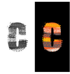 Tire track letter c vector