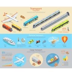 Transport Infographic Transportation vector image