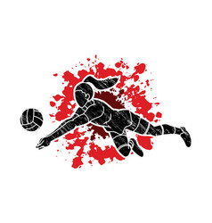 volleyball sport action cartoon graphic vector image