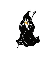 wizard cartoon character design vector image