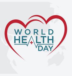 World health day concept text vector