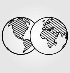 world icon isolated on white background vector image