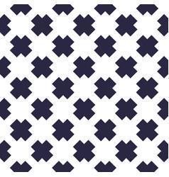 x crosses seamless minimalistic background vector image