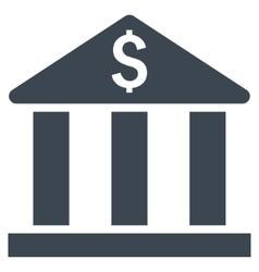 Bank Building Flat Icon vector image vector image