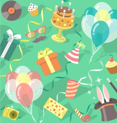 Birthday Party Celebration Seamless Pattern vector image vector image