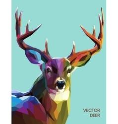 Deer polygonal eps 10 vector image vector image