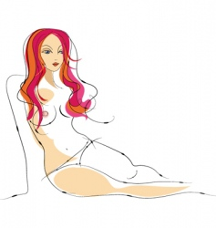 sexy female nude sketch vector image