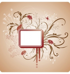 square frame with foliage vector image vector image
