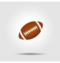 American football ball isolated on white with vector image vector image