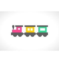 beautiful multi colored toy train vector image