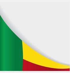 benin flag background vector image vector image