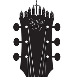 headstock city vector image