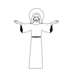 jesus christ christian icon image vector image vector image