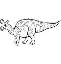 lambeosaurus dinosaur coloring page vector image vector image