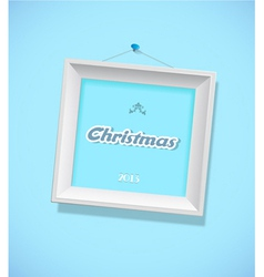 Christmas sign with picture frame vector image