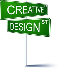 Creative-design direction sign vector image
