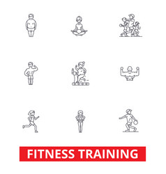 fitness class gym workout running crossfit vector image vector image