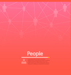 social network modern concept background vector image vector image