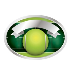 Tennis ball and banner vector