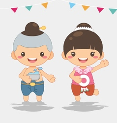 Thai new year songkarn festival vector