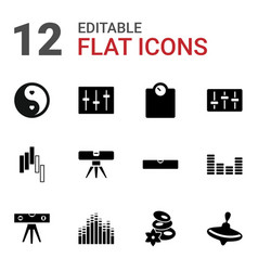 12 balance icons vector image
