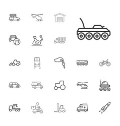 22 vehicle icons vector