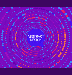 Abstract colorful dotted circles vector