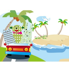 animals vacation time vector image