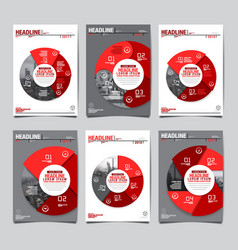 Annual report 20172018future business template vector