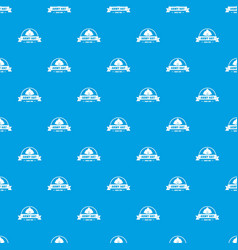 Army hat pattern seamless blue vector