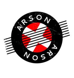 Arson rubber stamp vector