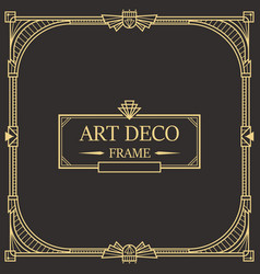 Art deco border and frame 31 vector