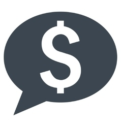 Bank Message Flat Icon vector image