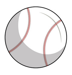 Baseball balloon isolated icon vector