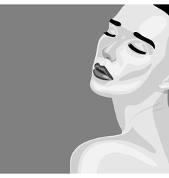 Beauty young Woman turned over her shoulder vector