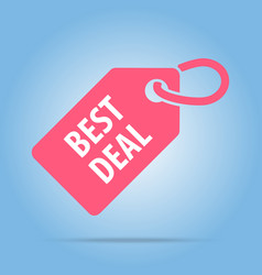 Best deal tag red color vector