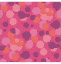 blot living coral seamless pattern vector image