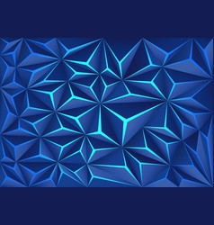 blue polygon crack light technology design vector image