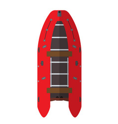 Boat top view vector