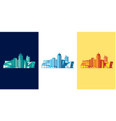 buildings graphic assets vector image