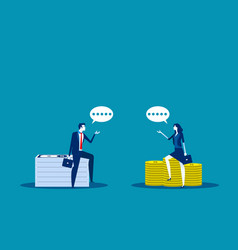 Business investor talking concept business vector