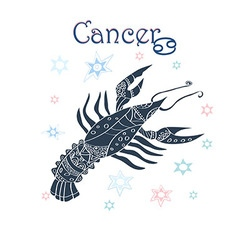 Cancer horoscope sign vector