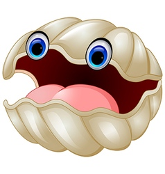 Cartoon oyster vector image
