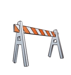 Cartoon Traffic Barrier vector