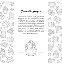 chocolate recipes natural chocolate banner vector image