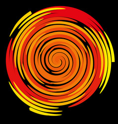 color spiral on a black background abstraction vector image